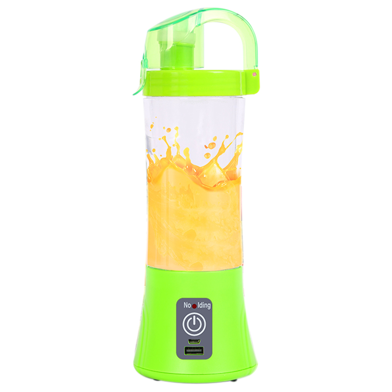 Usb Rechargeable Blender Mixer Portable Mini Juicer Juice Machine Smoothie Maker Household Small Juice Extractor -Green image