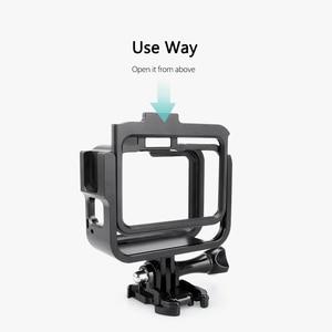 Image 3 - Vamson Vlog Aluminium alloy Housing Case for GoPro Hero 8 Black Vlogging Cage Frame Shell with Mic Cold Shoe Mount VP654