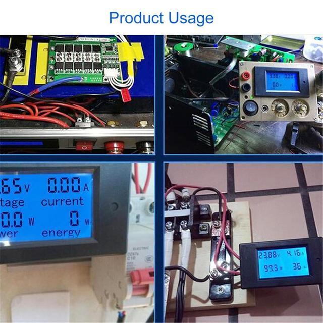 Compteur dénergie numérique voltmètre cc ampèremètre wattmètre Khw moniteur de puissance avec testeur de courant de tension de Shunt testeur de batterie