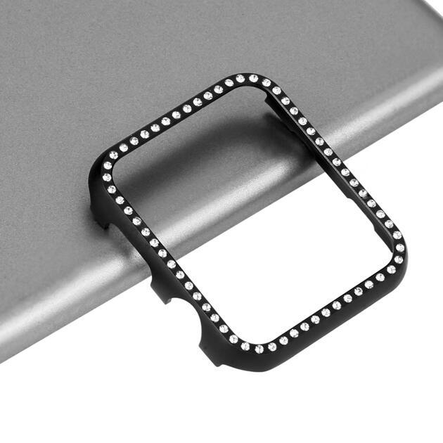 with Diamond hard shell Protector cover for Apple Watch for iwatch case Series 5 4 3 2 1 38mm 42mm 40mm 44mm | Watchbands
