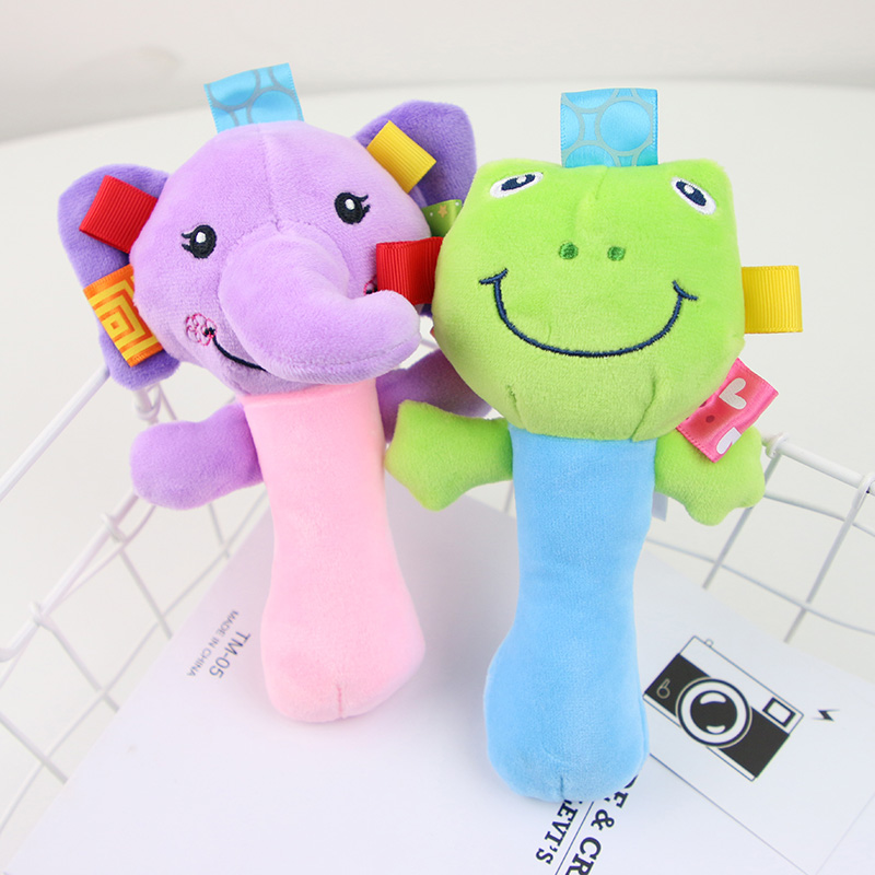 Newborn Baby Toys 0-12 Months Cartoon Animal Baby Plush Rattle Mobile Bell Toy Infant Toddler Early Educational Toys speelgoed 3