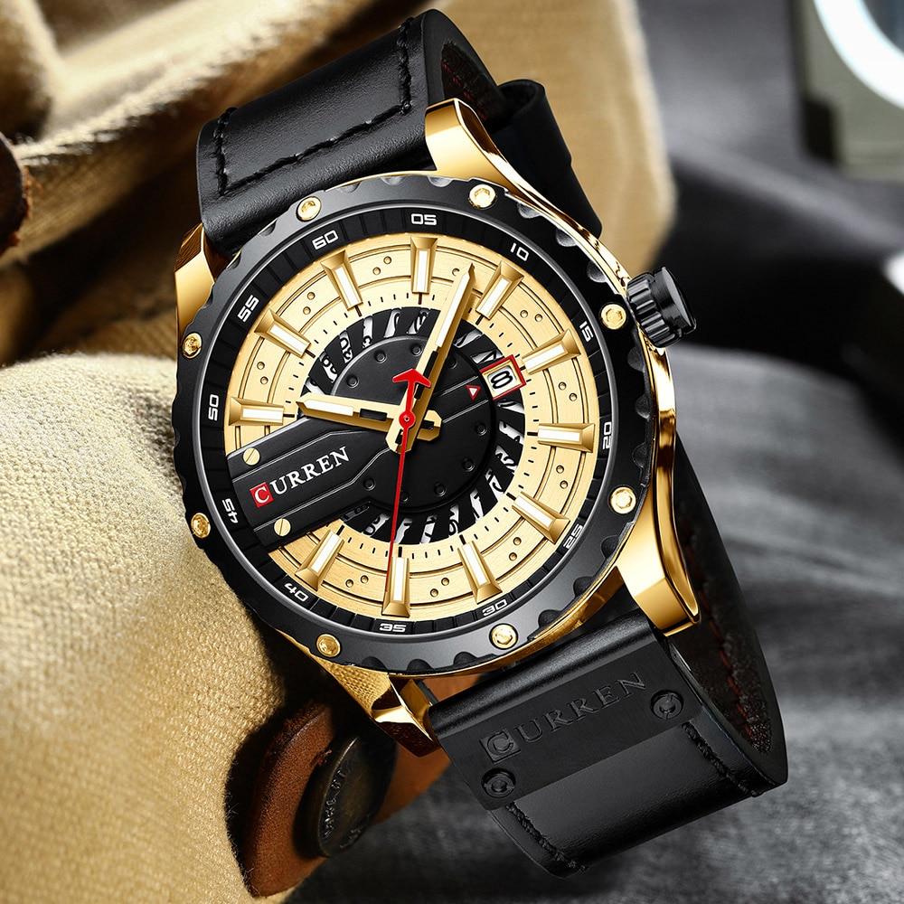 H9f327b9139c64754ab0c617e46160fd2P CURREN Watch Wristwatch  New Chic Luminous hands
