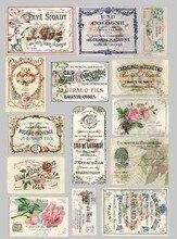 14 unids/pack Vintage europeo Floral etiqueta billete etiqueta pegatina para álbum de recortes DIY álbum diario planificador pegatinas