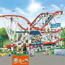Предпродажа 15039 legoinglys с системой питания американские горки создатель 10261 4619 шт мальчик мечты модель строительные блоки игрушки