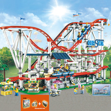 In Stock 15039 legoinglys with power system The roller coaster Creator 10261 4619pcs Boy Dreams Model Building Blocks Toys