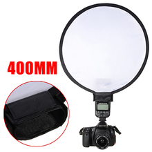 Universal Softbox Camera Flash Diffuser Portable 40cm Round Disc Soft Box for Speedlight Reflective Cover For Canon Nikon Flash universal inflatable type plastic flash speedlight diffuser