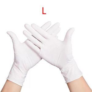 Image 5 - 100 sztuk wodoodporne jednorazowe mycie czyszczenie rękawice nitrylowe rękawice ochronne X6HB