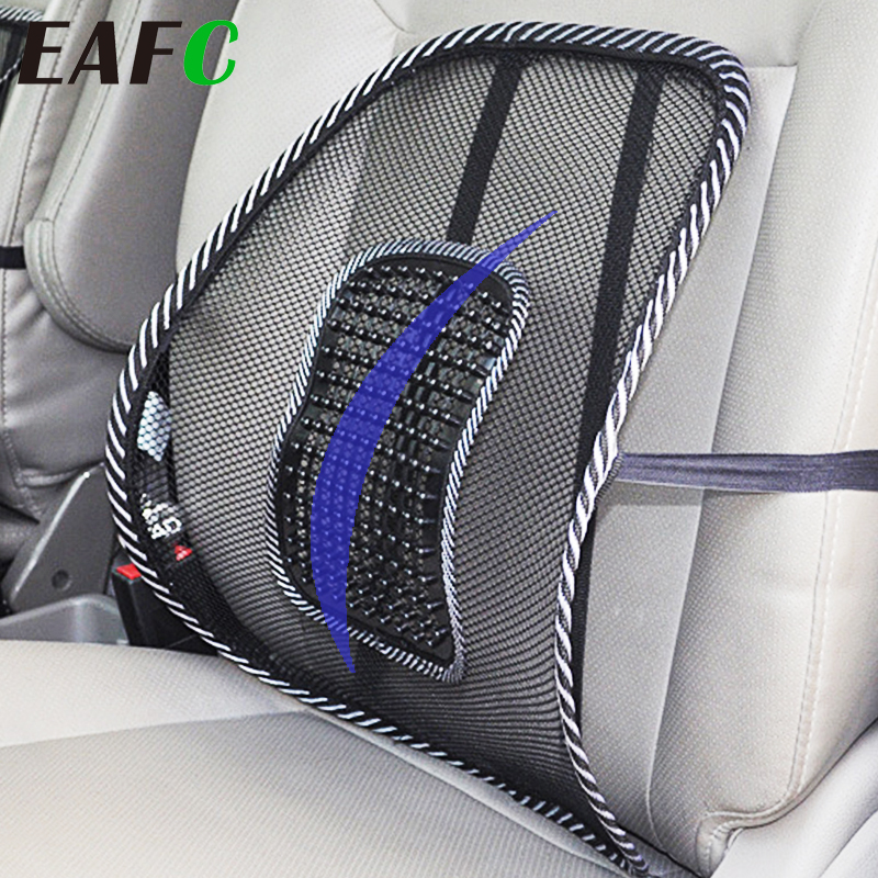 Universal Car Back Support Chair Massage Lumbar Support Waist Cushion Mesh Ventilate Cushion Pad For Car Office Home(China)