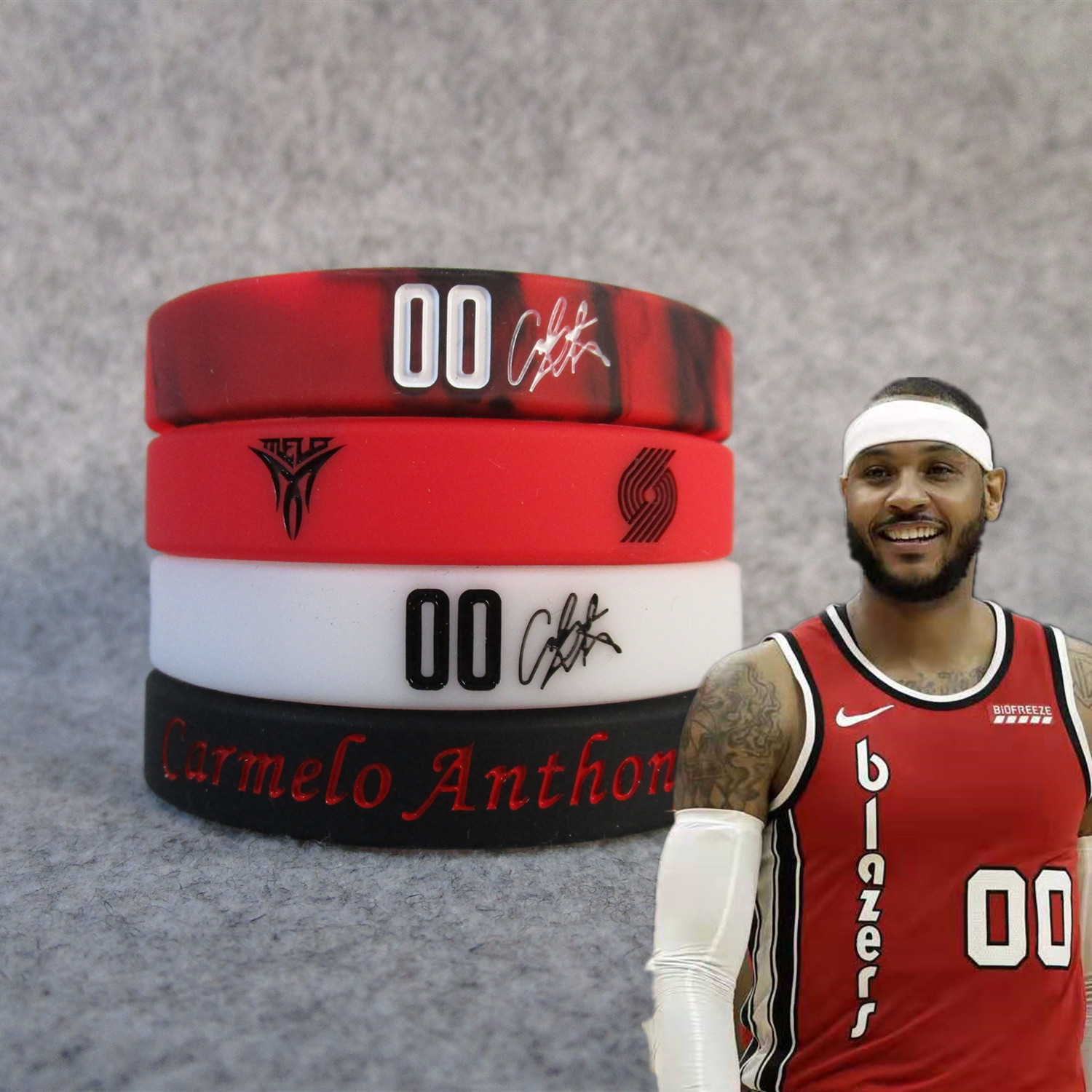 PIONEER 00 Cameron. Anthony Melo Signature Sports Bracelet Night Light Silicone Wrist Strap Fans Accessories