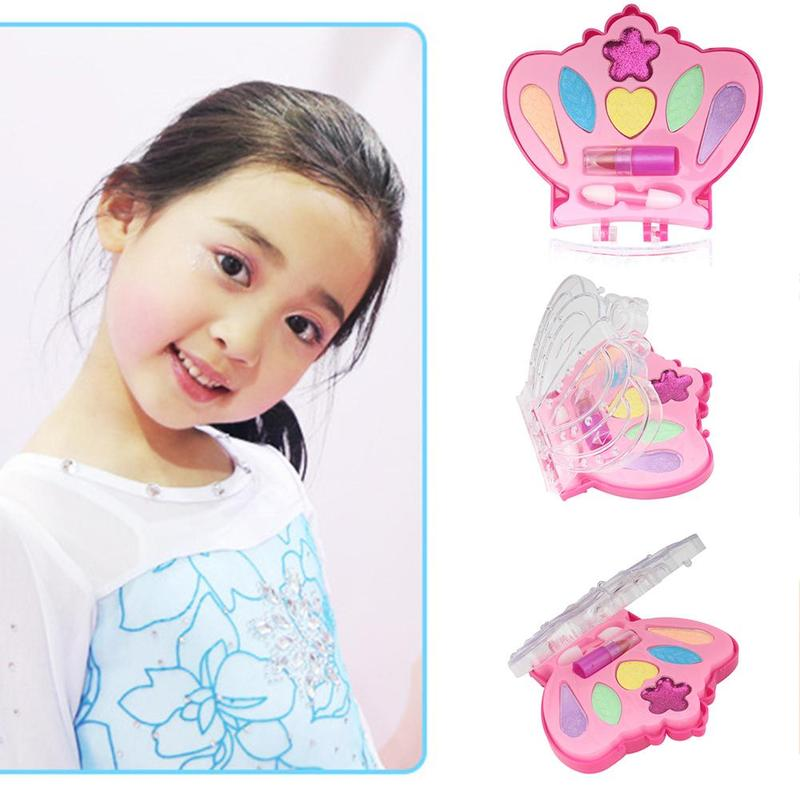 Children's Makeup Set Toy Girls Eyeshadow Lipstick Plastic Safety Beauty Pretend Play Makeup Games Gifts Toys