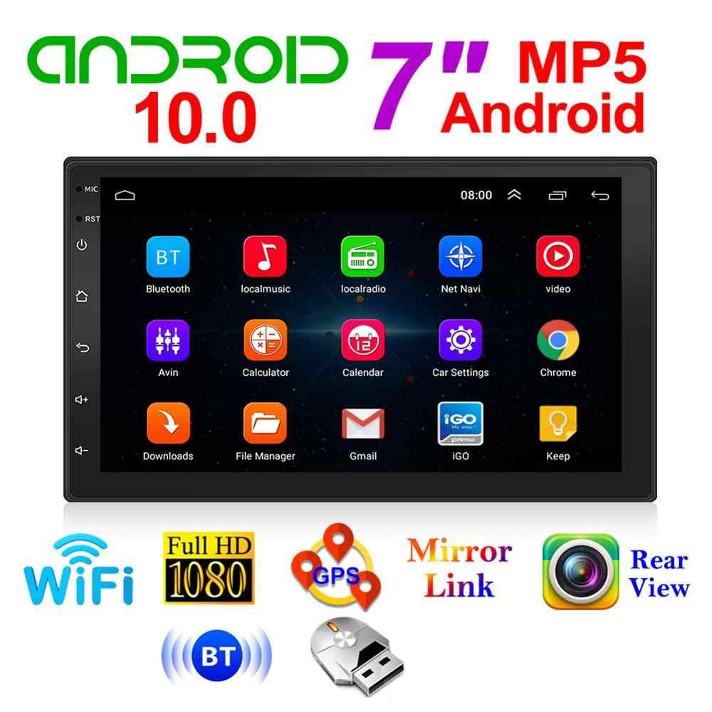 2 DIN Android 10.0 Phát Thanh Xe Hơi Màn Hình Đa Phương Tiện Video Âm Thanh Xe Dẫn Đường GPS Bluetooth WiFi Đài Phát Thanh Đầu Đơn Vị Trang Sức Giọt