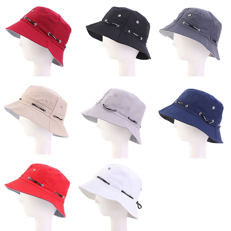 Women Travel Canvas Sun Hat Teenager  Foldable Bucket Hats Summer Wide Brim Fedoras Caps Girls Solid Color Adjustable Casual Cap