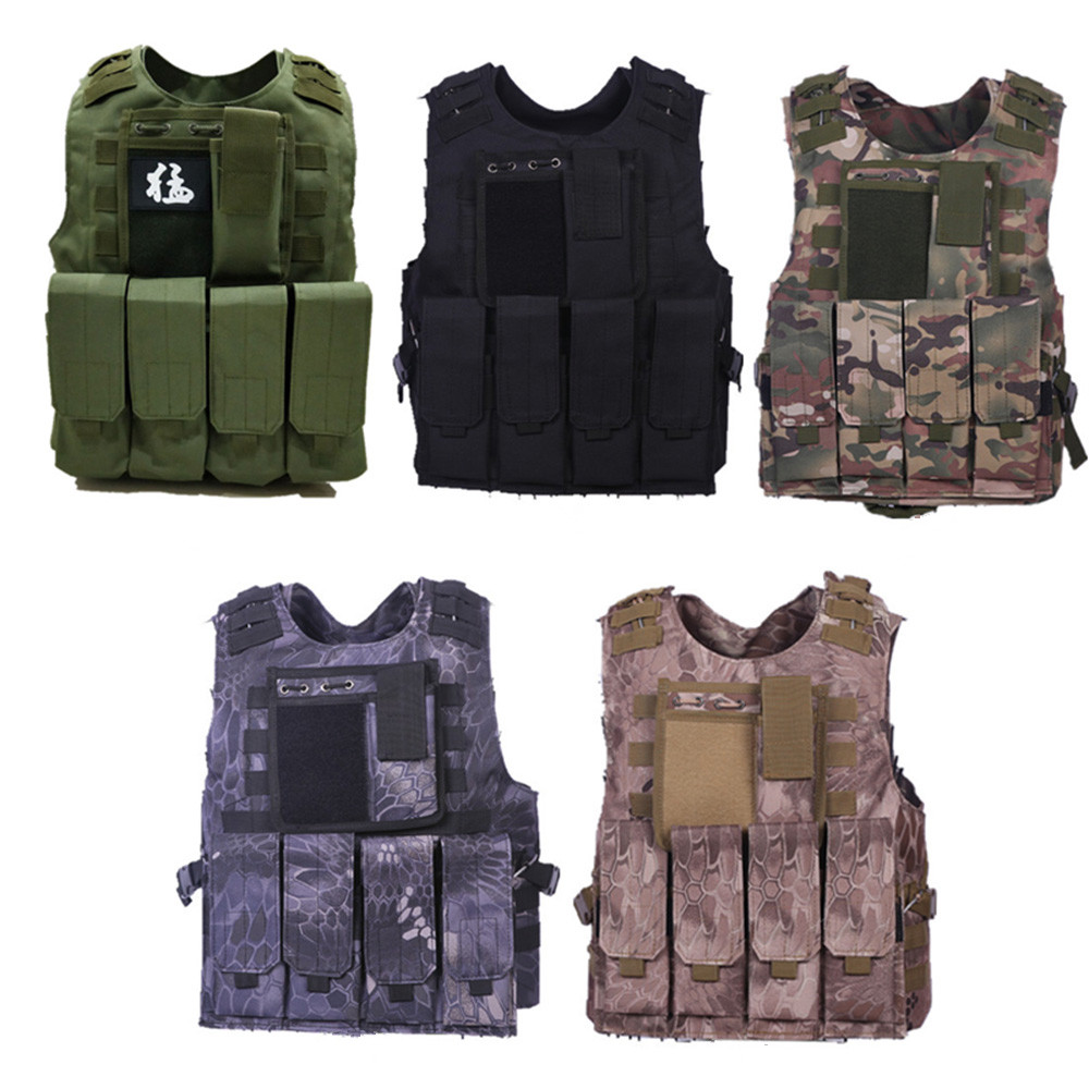 Camouflage Multi-function Vest Children Adult Military Tactical Vest Wargame Hunting Jungle Military Combat Tactical Waistcoat