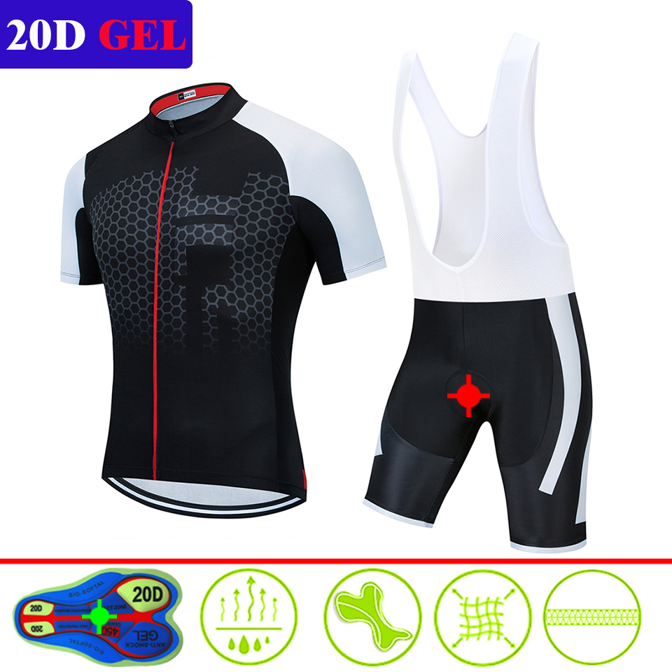 2020 Summer Cycling Jersey Short Sleeve Set Bike Bicycle Clothing Ropa Ciclismo Uniformes Cycle Clothes Maillot Bib Shorts