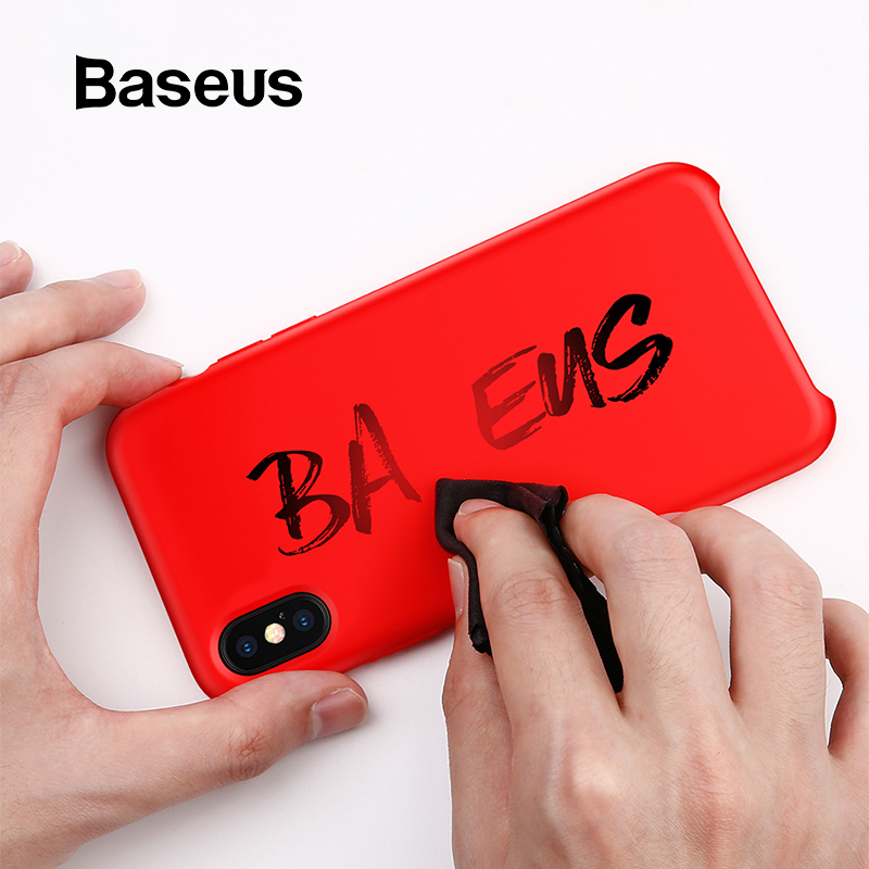 Baseus Luxo Capa De Silicone Líquido Para iPhone Xs Max Suave Doce Cor Caixa Do Silicone Para o iphone Xs Xs Max XR coque Tampa Do Telefone