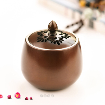 Mini Copper Incense Burner Buddhist Antique Smell Diffuser Bedroom Little Decorations Retro Home Buddhist Supplies New MM60XXL