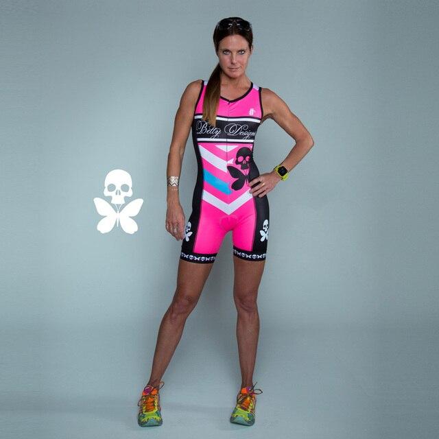 Betty 2020 mulher triathlon ciclismo skinsuit verão sem mangas maiô personalizado bicicleta corpo terno ciclismo roupas macacão 2