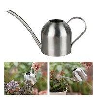 뜨거운 실내 작은 스테인레스 스틸 물을 수있는 냄비 정원 오르네 식물 도구 D6