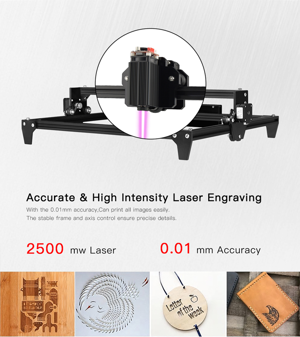 30x40cm 2-Axis CNC Laser Engraving Machine/Wood Router 9