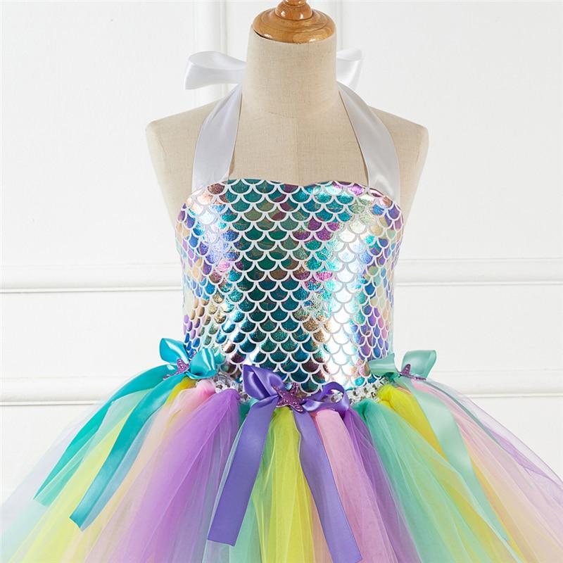 Купить нарядное платье принцессы русалки для девочек; карнавальный