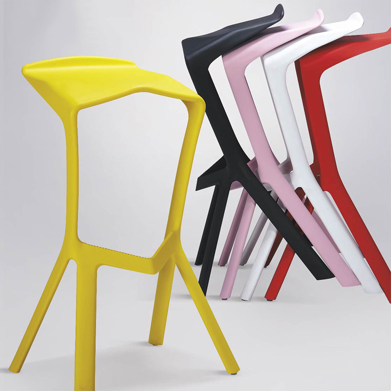 Modern Creative Shark Mouth Plastic High Stools Dining Chairs for Dining Rooms Restaurant Furniture Bar Kitchen Cafe Living Room