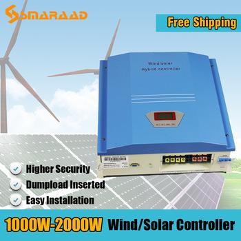 2020 1000w 2000w 2kw 48VDC IP42 hybrydowy wiatr i Regulator słoneczny PWM Regulator dla generatorów turbin wiatrowych Dumpload Insered tanie i dobre opinie CN (pochodzenie) WWS20-48 wws10-48 24v Wiatr kontroler 56Vdc 10kg Blue
