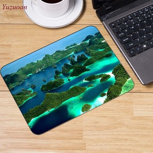 Image 5 - Yuzuoan Strand Zee Palm Landschap Grote Promotie Rusland Computer Gaming Muismat Muismatten Versieren Uw Bureau Antislip Rubber pad