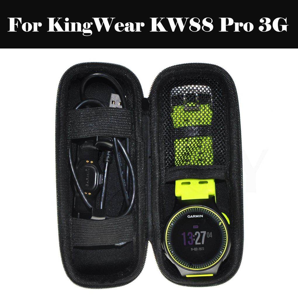 Portable <font><b>Watch</b></font> <font><b>Band</b></font> Box Case Strap Organizer Bracelet Storage Bag Accessories For KingWear <font><b>KW88</b></font> Pro 3G image