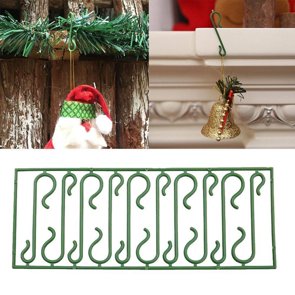 10pcs Christmas Ornaments S Shape Hooks Christmas Tree Decoration Multi Purpose Holders Hanging Hooks Dropshipping