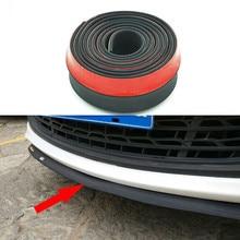 Speedwow 2.5m carro pára-choques tira de borracha de fibra de carbono spoiler pára-choques borracha macio preto guarnição carro pára-choques tira estilo do carro