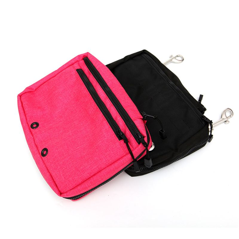 Snorking Drifting Scuba Diving Gear Storage Bag Purse Side Mount Hanging Pocket Zipper Pouch With Double Trigger Hooks