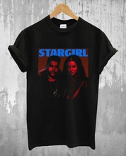 Lana Del Rey Stargirl The Weeknd Logo Black Tee Men T Shirt S M L XL 2XL  tshirt Print T-Shirt Mens Summer
