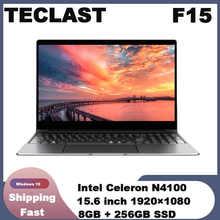 Teclast F15 Notebook 15.6 ''Windows 10 Intel N4100 Quad Core 1.1 GHz 8 GB RAM 256 GB SSD 1.0MP front