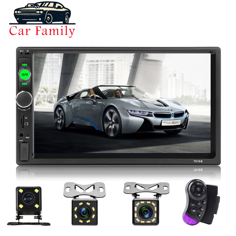 Car Audio Player Bluetooth Stereo FM Radio Car MP5 <font><b>7010B</b></font> SD AUX USB 5V Charger Auto Electronics Subwoofer <font><b>2</b></font> <font><b>Din</b></font> Autoradio image