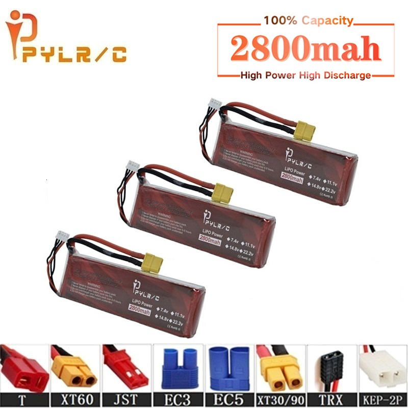 High Rate 7.4v <font><b>2800mAh</b></font> <font><b>Lipo</b></font> Battery For RC Helicopter Parts <font><b>2s</b></font> Lithium battery 7.4v 35C RC Cars Airplanes Drones Battery T/XT60 image