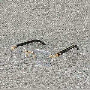 Image 4 - Vintage Naturale Legno Chiaro Occhiali di Corno di Bufalo Oversize Occhiali Senza Montatura Telaio per Gli Uomini Donne Quadrati Occhiali Da Lettura Ottica