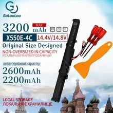 2200mAh 14.8V Laptop Battery A41-X550E for ASUS x550e X450 X450J A450V A450 F450 X450E A450J  F450E F450JF F450C X751L X751M new 15v 2950mah 44wh a41 x550e x550e battery for asus x450 x450e x450j x450jf x751m x751ma db01q x751ma
