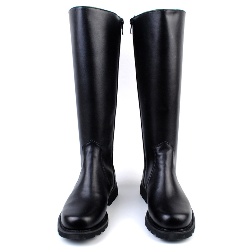 2019 Fashion Knee High Military Boots For Men Genuine Leather Long Riding Boots Knight Leather Boots Man Shoes Plus Size 36-46