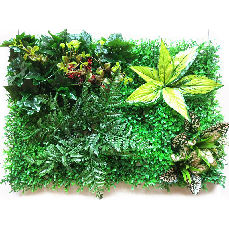 <font><b>60*40</b></font> cm NEW Style Artificial Milan Wall Grass With Monstera Fern Plants Flowers For Imagine Background Wall Decoration image