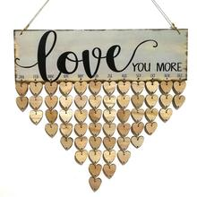 WINOMO Wooden DIY Calendar Reminder Love You More Family Birthday Planner Board Hanging Plaque For Home Party Decoration цены