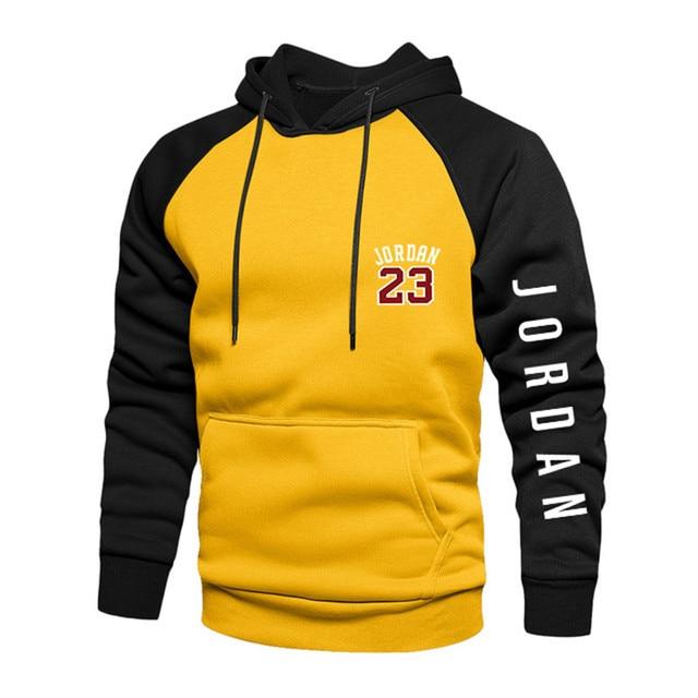 2021 New Spring Men's Loose Hoodie Long Sleeve Sweater Pullover Men's Raglan Sleeve Color Block Pocket 4xl Thick Warm Jacket 4