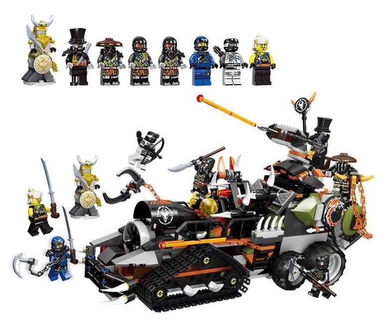 2019 Legoland Ninjagoed Caçado Pesado Caminhão Dragão Modelo de Blocos de Construção Tijolos educacionais Brinquedos para As Crianças Presentes de Natal