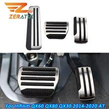 Zeratul Auto Auto Pedale für Infiniti QX60 QX80 QX30 2014   2020 ZU Gas Pedal Pad Brems Pedal Schutz Abdeckung zubehör
