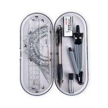 Compasses-Set Geometry Examination-Divider Protractor Math-Eraser Drawing School