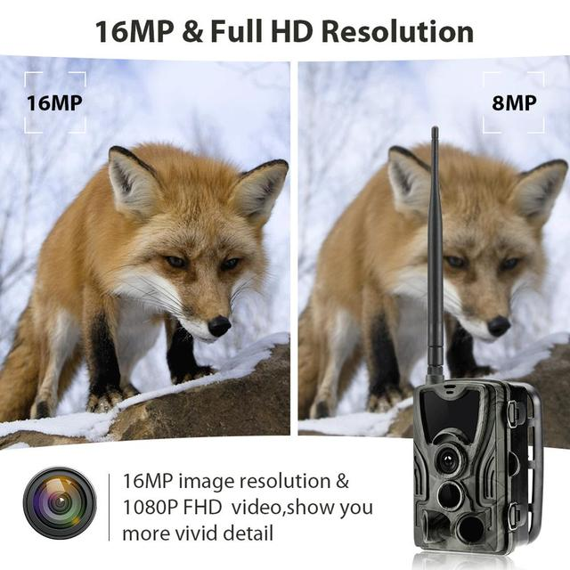 Suntekcam 4G Hunting Trail Camera  FTP SMTP MMS 20MP 1080P HC801LTE Wireless Cellular Wildlife Cameras  0.3s  Hunting Cam IP65 5