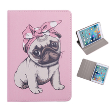 цены на Case For New ipad 2017 2018 mini 123 mini 4 mini 5 Flip smart stand cover PU leather Cute dog Tablet Shell For ipad 234 Air 1/2  в интернет-магазинах