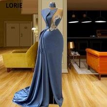 Лори арабский вечернее платье с кристаллами бусины Атлас Дубай