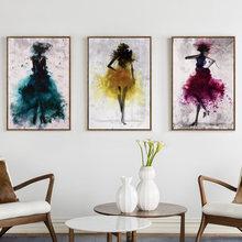 Танцевальная юбка для девочек акварельная Абстрактная Картина