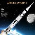 Apollo Saturn V лунный модуль ракета спутник строительные блоки игрушки совместимы с DIY обучение детей рождественские подарки