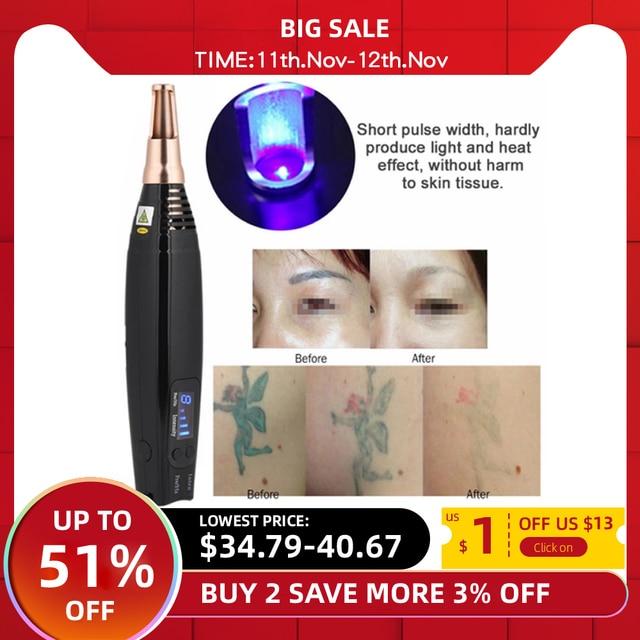 Scar Tattoo Removal Laser Pen Freckle Acne Mole Dark Spot Pigment Tattoo Removal Beauty Machine Pro Repair Picosecond Pen Salon
